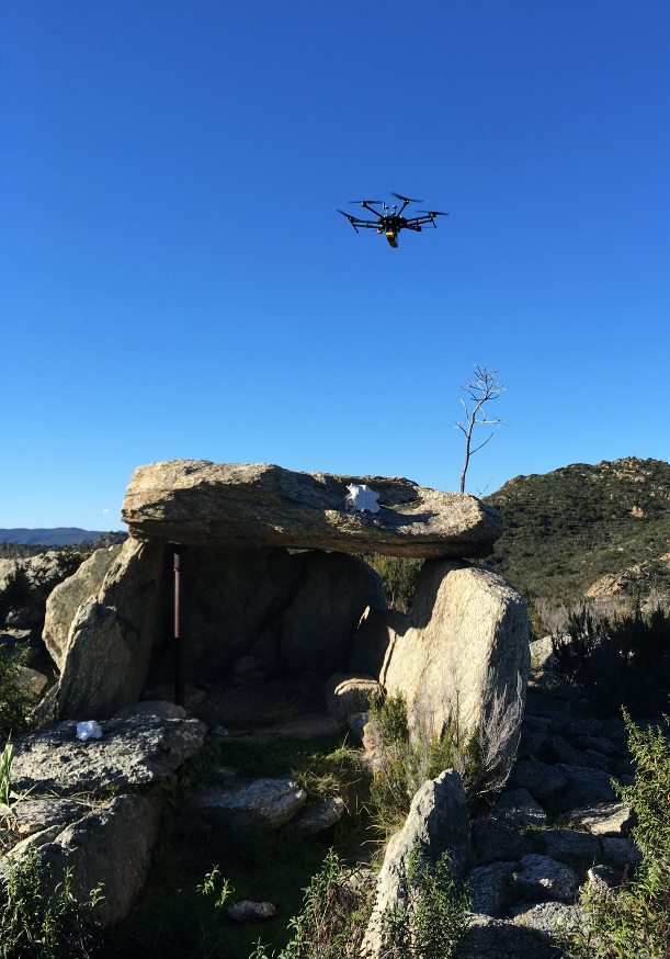 Drone M600 + Scanner Lidar Vx-20 au dessus de la Corse