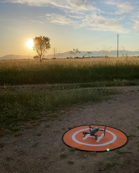 decollage drone levé du jour